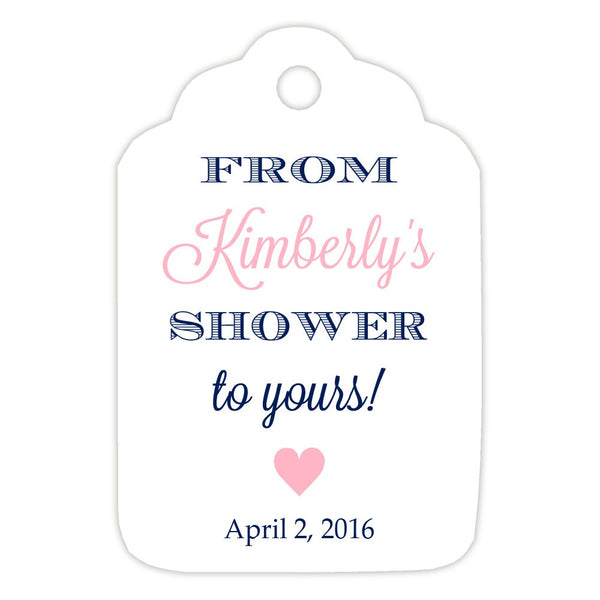 From my shower to yours tags 'Classic Elegance' - Navy/Pink - Dazzling Daisies