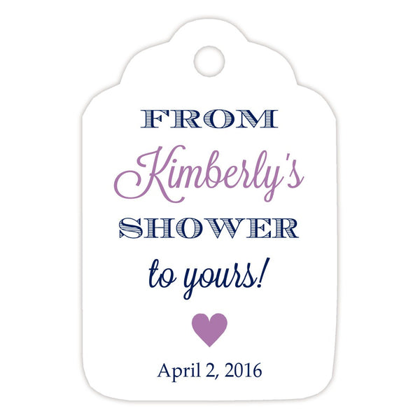 From my shower to yours tags 'Classic Elegance' - Navy/Plum - Dazzling Daisies