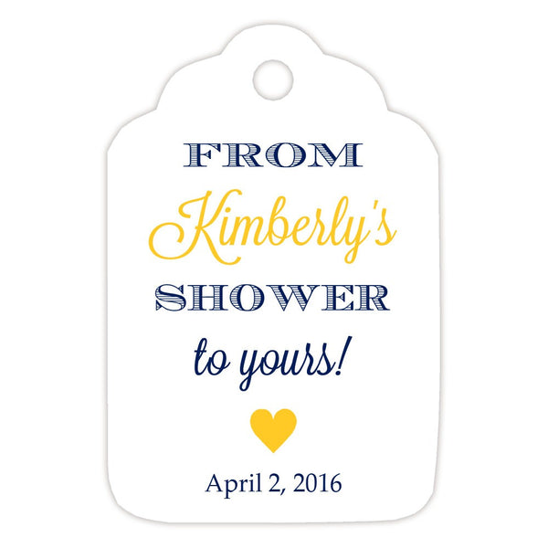From my shower to yours tags 'Classic Elegance' - Navy/Yellow - Dazzling Daisies