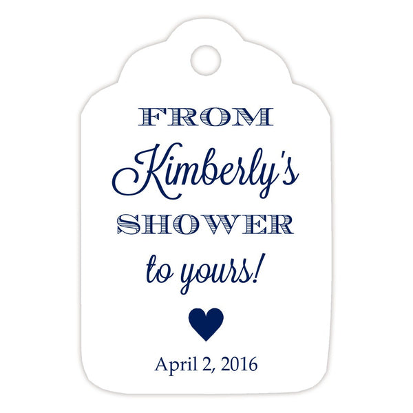 From my shower to yours tags 'Classic Elegance' - Navy - Dazzling Daisies