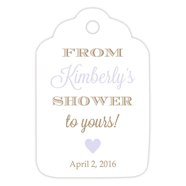 From my shower to yours tags 'Classic Elegance' - Sand/Lavender - Dazzling Daisies