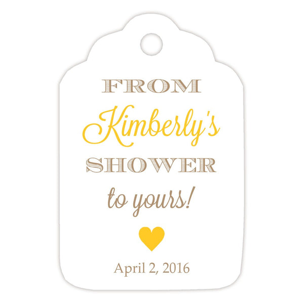 From my shower to yours tags 'Classic Elegance' - Sand/Yellow - Dazzling Daisies