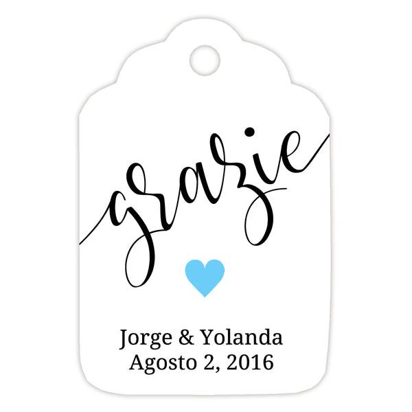 Grazie tags - Sky blue - Dazzling Daisies