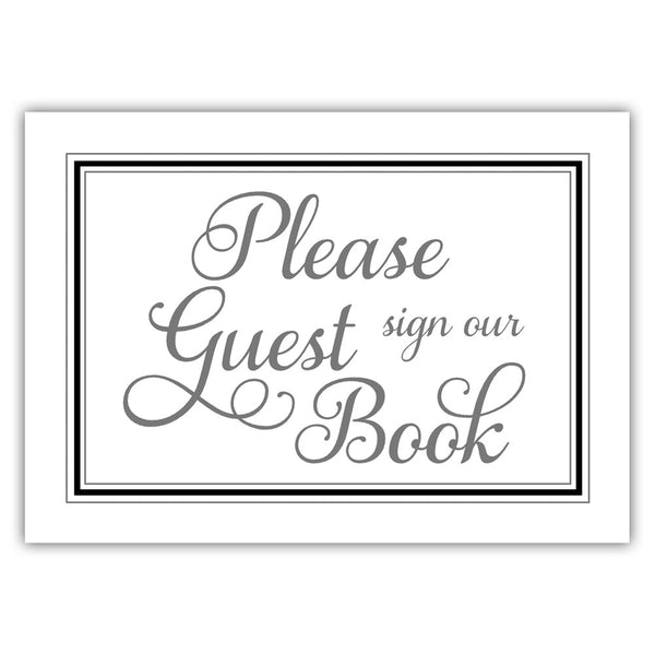 Guest book sign 'Elevated Elegance' - Black - Dazzling Daisies
