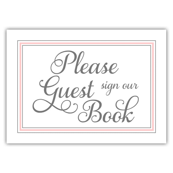 Guest book sign 'Elevated Elegance' - Blush - Dazzling Daisies