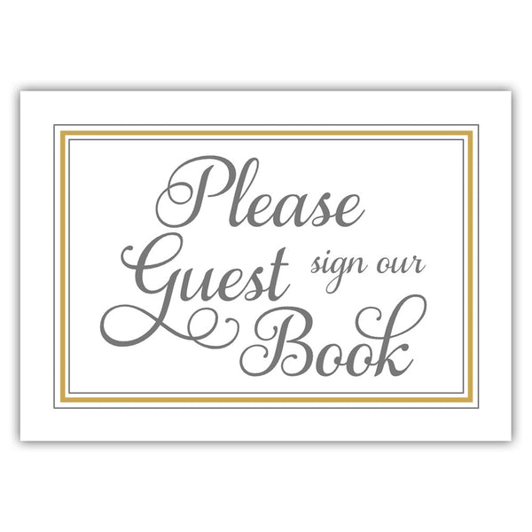 Guest book sign 'Elevated Elegance' - Gold - Dazzling Daisies