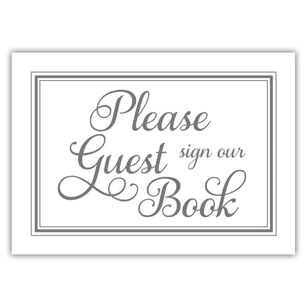 Guest book sign 'Elevated Elegance' - Gray - Dazzling Daisies