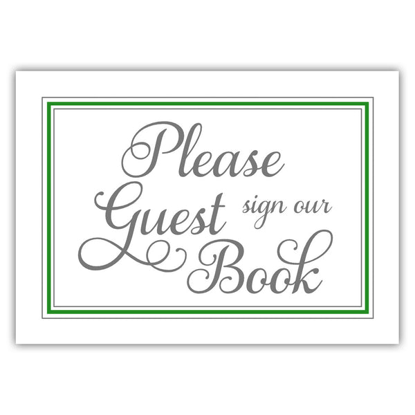 Guest book sign 'Elevated Elegance' - Green - Dazzling Daisies