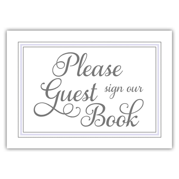 Guest book sign 'Elevated Elegance' - Lavender - Dazzling Daisies