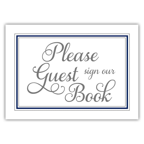 Guest book sign 'Elevated Elegance' - Navy - Dazzling Daisies