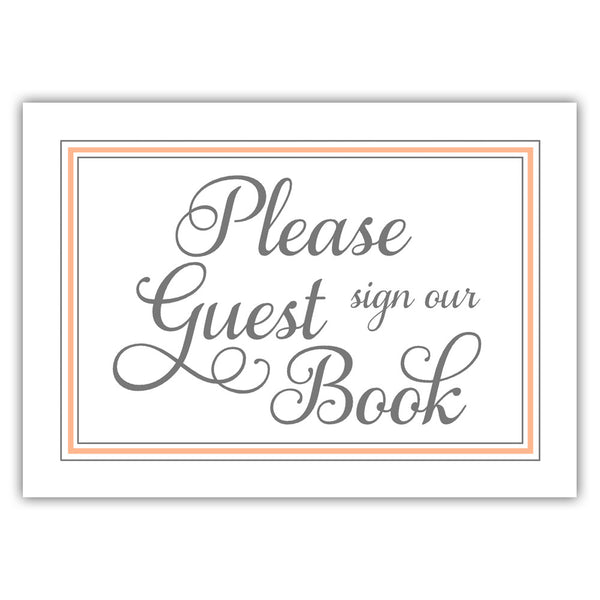 Guest book sign 'Elevated Elegance' - Peach - Dazzling Daisies