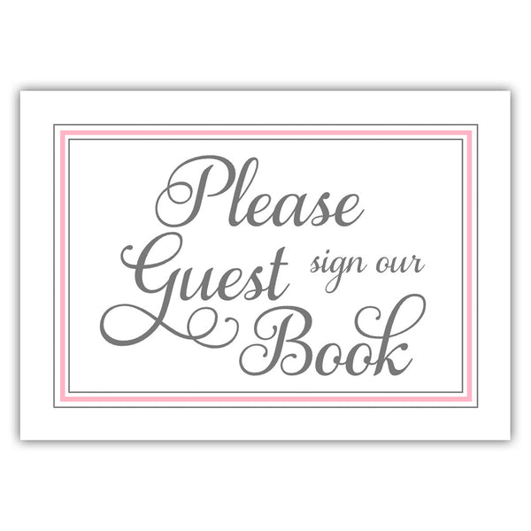 Guest book sign 'Elevated Elegance' - Pink - Dazzling Daisies