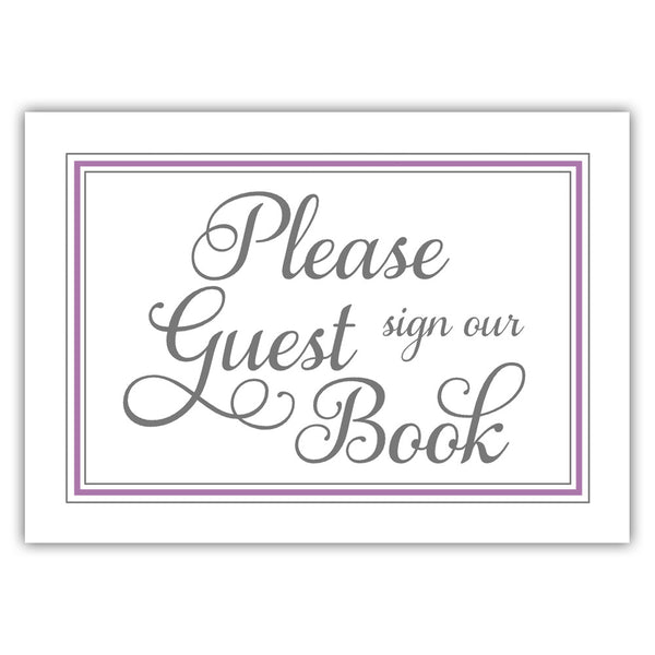 Guest book sign 'Elevated Elegance' - Plum - Dazzling Daisies