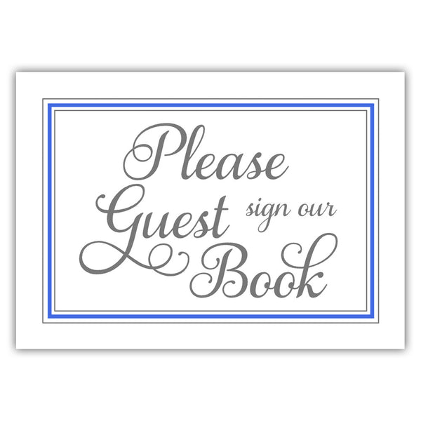 Guest book sign 'Elevated Elegance' - Royal blue - Dazzling Daisies