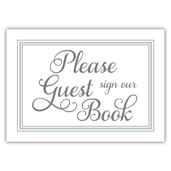 Guest book sign 'Elevated Elegance' - Sage - Dazzling Daisies