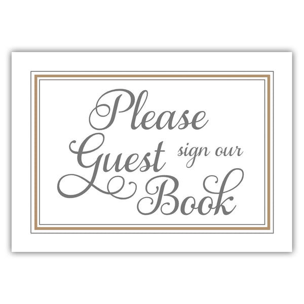 Guest book sign 'Elevated Elegance' - Sand - Dazzling Daisies