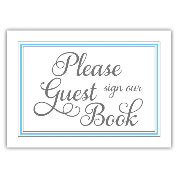 Guest book sign 'Elevated Elegance' - Sky blue - Dazzling Daisies