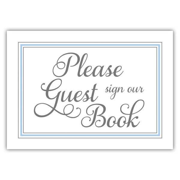 Guest book sign 'Elevated Elegance' - Steel blue - Dazzling Daisies
