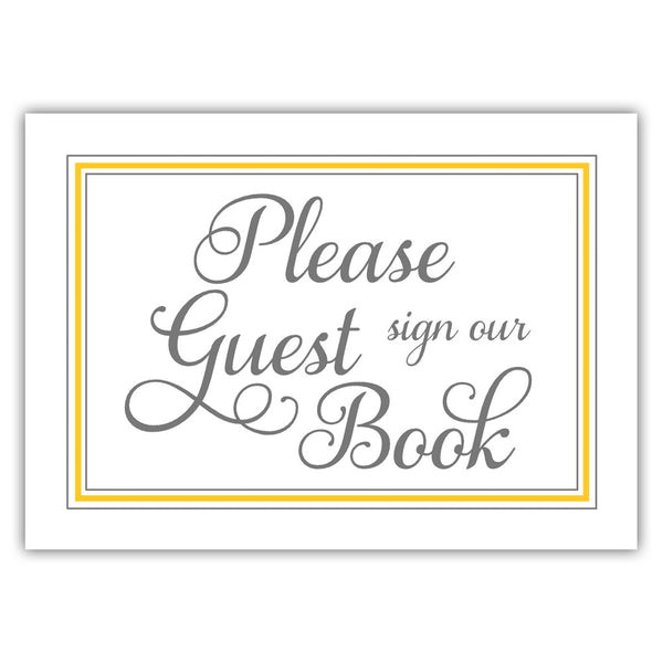 Guest book sign 'Elevated Elegance' - Yellow - Dazzling Daisies