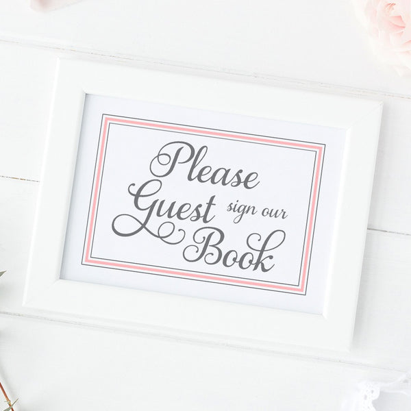 Guest book sign 'Elevated Elegance' -  - Dazzling Daisies