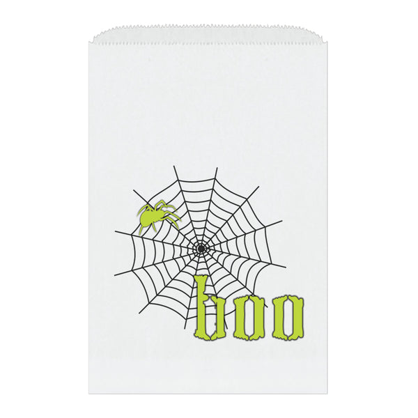 Halloween treat bags 'Scary Spider' - Lime - Dazzling Daisies