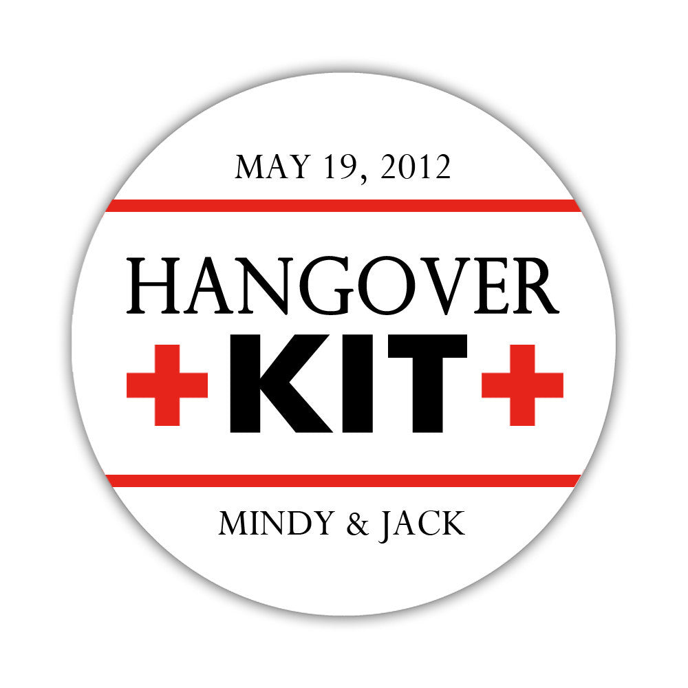 "Hangover kit stickers - 1.5"" circle = 30 labels per sheet / Navy/Yellow - Dazzling Daisies"