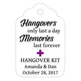 Hangover kit tags - Purple - Dazzling Daisies