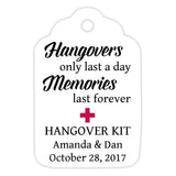 Hangover kit tags - Raspberry - Dazzling Daisies
