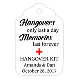 Hangover kit tags - Red - Dazzling Daisies