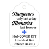 Hangover kit tags - Royal blue - Dazzling Daisies