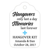 Hangover kit tags - Sky blue - Dazzling Daisies