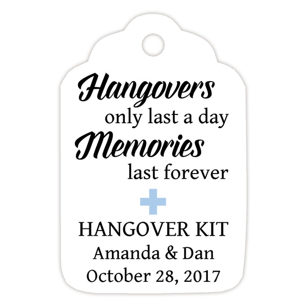 Hangover kit tags - Steel blue - Dazzling Daisies