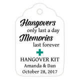 Hangover kit tags - Teal - Dazzling Daisies