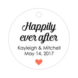 Happily ever after tags - Coral - Dazzling Daisies
