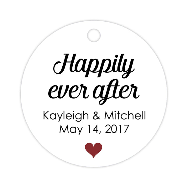 Happily ever after tags - Maroon - Dazzling Daisies