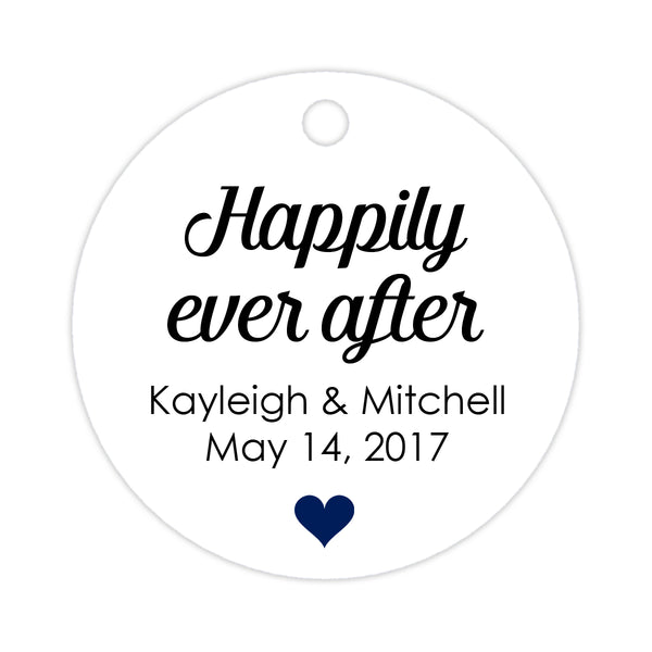 Happily ever after tags - Navy - Dazzling Daisies