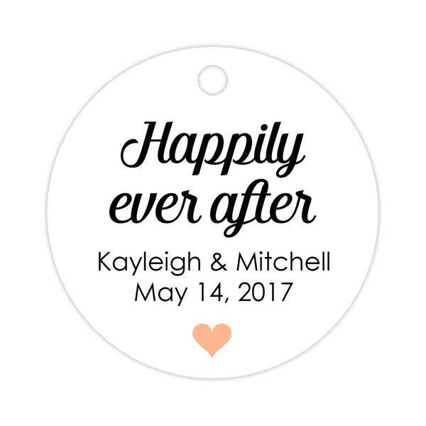 Happily ever after tags - Peach - Dazzling Daisies