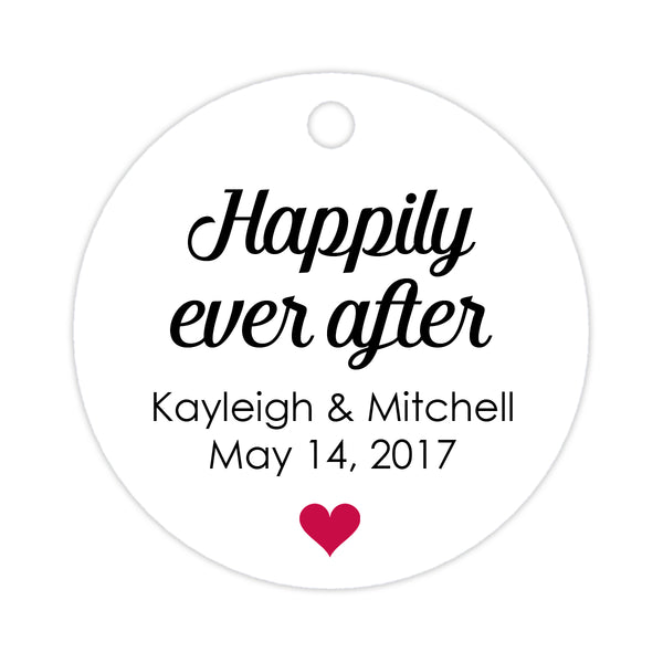 Happily ever after tags - Raspberry - Dazzling Daisies
