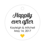 Happily ever after tags - Yellow - Dazzling Daisies