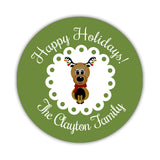 Happy Holidays stickers 'Reindeer Cuteness' - 1.5