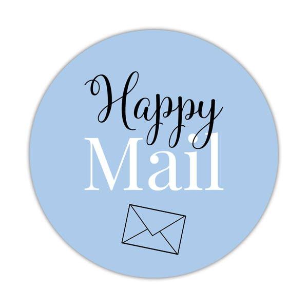 Happy mail stickers 'Elegant Envy' - Steel blue - Dazzling Daisies
