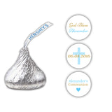 Hershey kiss stickers communion 'Basic Beauty' - Gold/Sky blue - Dazzling Daisies
