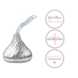 Hershey kiss stickers communion 'Basic Beauty' - Gray/Pink - Dazzling Daisies
