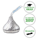 Graduation Hershey kiss stickers - Green - Dazzling Daisies