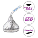 Graduation Hershey kiss stickers - Purple - Dazzling Daisies