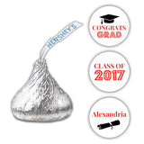 Graduation Hershey kiss stickers - Red - Dazzling Daisies