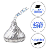 Graduation Hershey kiss stickers - Royal blue - Dazzling Daisies