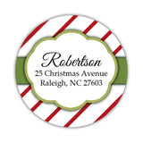 Christmas return address labels 'Candy Cane' -  - Dazzling Daisies