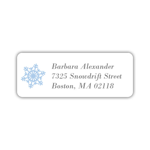 Holiday return address labels 'Simple Snowflake' -  - Dazzling Daisies