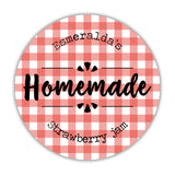 Canning jar labels 'Plaid Perfection' - 1.5